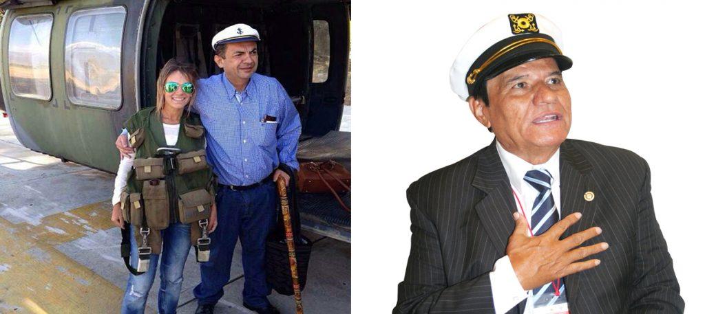 Izq: el procurador Campo. Der: el presentador Belisario