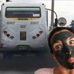 Mascarillas de hollín de buses bogotanos hacen furor en Holanda