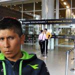 Nairo Quintana llegó a Bogotá y tuvo que coger Transmilenio