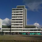 Temblor de ayer «enderezó» torre de enfermería de la Universidad Nacional