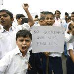 Niños se unen al paro, piden no ser evaluados
