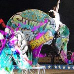 Grafiteros bogotanos vandalizan elefante de un circo