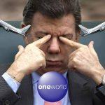 Antes de irse, Santos aclaró que esta gira es «con millas y dormida en sofacama»