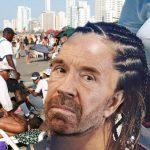 Chuck Norris pierde discusión con masajista en playa de Cartagena