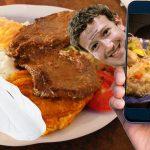 Joven preocupado porque facebook haya vendido las fotos de su almuerzo