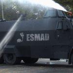 Tanquetas del ESMAD ahora disparan agua con jabón